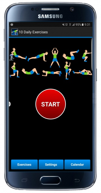 Interfaz de la aplicación 10 Daily Exercices