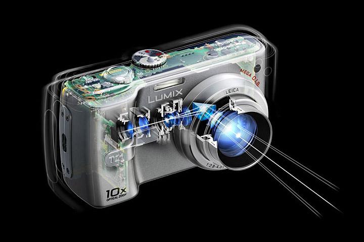 "Zoom óptico de estilo ""periscopio"" de la Lumix DMC TZ1 © Panasonic"